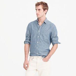 J Crew Slim Fit Chambray Shirt